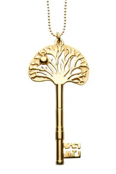 Tree key necklace- combines my two favorite kinds of necklaces trees and keys