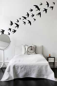 Swallow birds Vinyl Wall Stickers in Home by Vinyl Impression