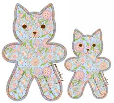 Tuto doudou Barnabé le chaton – Dans Mon Bocal Cat Crafts, Sewing Crafts, Sewing Projects, Felt Animal Patterns, Stuffed Animal Patterns, Fabric Animals, Felt Animals, Rag Doll Tutorial, Operation Christmas Child Boxes