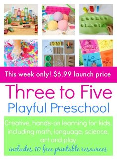 Great resource with tons of activities and lots of printables.... Three to Five: Playful Preschool 3-5 ebook