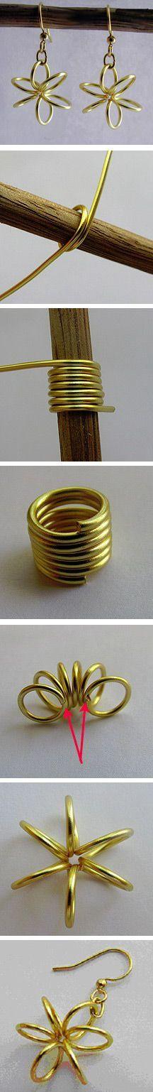 http://socksandmittens.blogspot.com/2010/10/tutorial-spring-flower-earrings.html #tutorial, #earrings #wire
