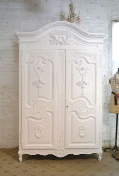 Painted Cottage Chic Shabby French Romantic Armoire/ Wardrobe/ C [AM188] - $1,795.00 : The Painted Cottage, Vintage Painted Furniture