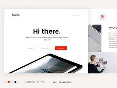 Source landing page | #ui #ux #userexperience #website #webdesign #design #minimal #minimalism #art #white #orange #blue #travel #map #ecommerce #fashion