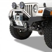 Bestop HighRock High Access Front Bumper with D-Ring Mount - Matte Black - Bumpers - Exterior Jeep Wrangler Bumpers, 2006 Jeep Wrangler, Cool Jeeps, Matte Black, 4x4, Monster Trucks, Exterior, Ring, Cars