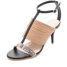 Loeffler Randall Robin T Strap Sandals ($375) ❤ liked on Polyvore