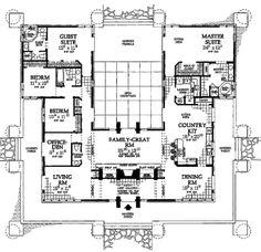Prairie Style House Plan - 5 Beds 3.5 Baths 3278 Sq/Ft Plan #72-179 Floor Plan - Main Floor Plan - Houseplans.com