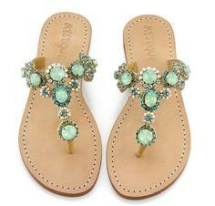 Jade gems sandals