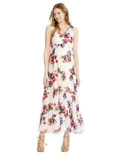 7752e0bf1dd Jessica Simpson Maternity Floral-Print Maxi Dress from Motherhood Maternity  Women - Maternity - Macy s