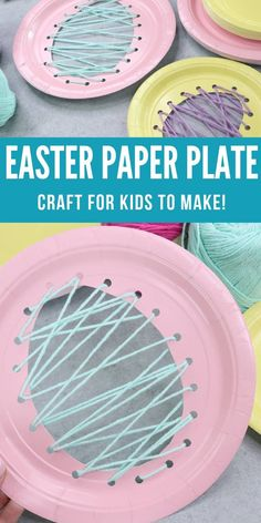 Easter Paper Plate Craft! A fun Easter Craft Idea for Kids! #passion4savings #diy #easter #eastercraft #kids Easter Arts And Crafts, Paper Plate Crafts For Kids, Crafts For Kids To Make, Spring Crafts, Holiday Crafts, Kids Crafts, Craft Kids, Bunny Crafts, Beach Crafts