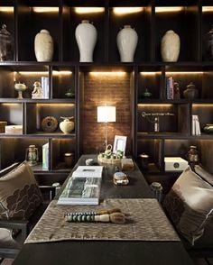 Un despacho con aire Zen. La zona de trabajo también puede ser un lugar acogedor.