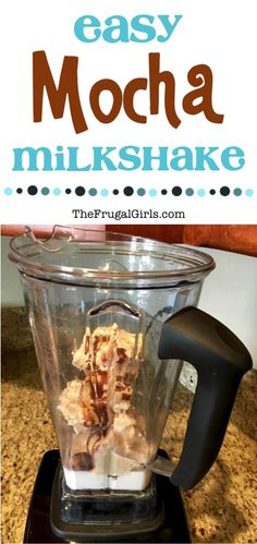 Easy Mocha Milkshake Recipe! ~ from TheFrugalGirls.com ~ Cool off on a hot day with this Easy Mocha Shake Recipe! It's rich, creamy, and ridiculously delicious!