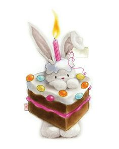 Ideas and Decor Happy Birthday Bunny, Happy Birthday Messages, Happy Birthday Images, Birthday Pictures, Birthday Greetings, Girl Birthday, Birthday Cards, Bunny Drawing, Bunny Art