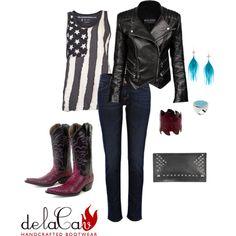 delaCav All American Rock & Roll Style by delacav on Polyvore