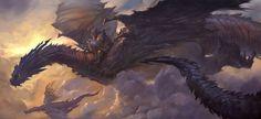 Dragons, in the artwork of Steve Wang.
