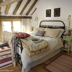Cozy Country Bedroom bedroom home bed country decorate cozy design interior design