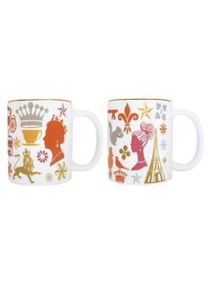 London to Paris Mugs (Set of 2) from Naked Decor: Fun Pillows & More on Gilt