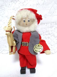 Christmas Elf Tomte Butticki Santa Claus Reindeer Figurine Sweden Christmas Doll #Butticki #Tomte