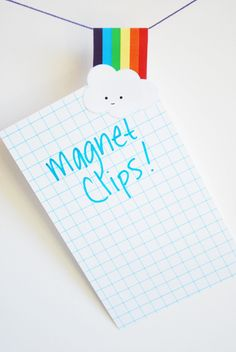 magnet bookmarks and clips printable (super cute!)