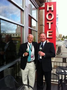 The Milwaukee Film Festival is happening now! Check out Steve Mech (who sits on the board of the film festival) and Tryg Jacobson chillin' at the pre-party at The Hotel Foster!
