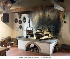 Medieval Castle Kitchen | Ancient Kitchen (Kyburg Castle, Switzerland) Stock Photo 24869062 ...
