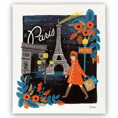 """Paris"" Travel The World Art Print- 11x13 by Rifle Paper Co. 