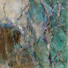 "Kathy Elliott Art:  The City Beneath the Sea, 20"" x 20"" 2nd Place Mixed Media, Richardson Civic Art Society Regional Show 2015"