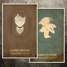 Harry Potter Movie Poster Collection - Seven 11x17 Vintage Fantasy Art Prints