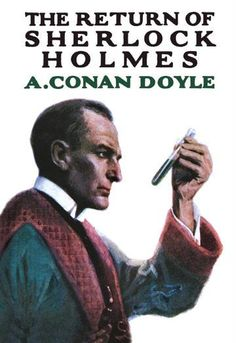 """Return of Sherlock Holmes (Book Cover)"" Print (Black Framed Poster Print Sherlock Holmes Book, Holmes Movie, Scottish Authors, Famous Detectives, Arthur Conan Doyle, Sir Arthur, Book Jacket, Science Fiction Art, Illustrations"