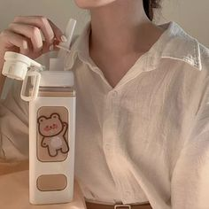 Korean Cafe, Cheap Water Bottles, Water Bottle With Straw, Pretty Face, Outfits For Teens, Cute Gifts, Drink Bottles, Tumbler, Drinking