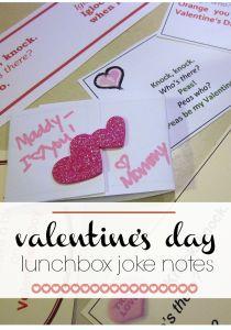valentines day lunchbox joke notes