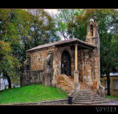 Spain La capilla de Santa Cruz en Cangas de Onis Asturias