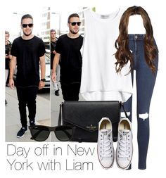 """Day off in New York with Liam"" by style-with-one-direction ❤ liked on Polyvore featuring Topshop, Converse, Ray-Ban, OneDirection, LiamPayne, 1d and liam payne one direction 1d"