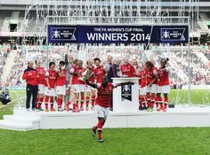 Arsenal Ladies win FA Cup 2014 beating Everton Ladies