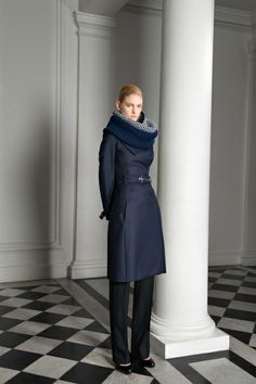 I wasn't aware of this line before today but loving the knit scarves #BouchraJarrar Fall 2013 #PFW
