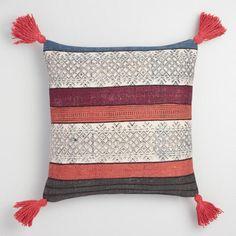 Indigo Stonewash Stripe Throw Pillow - v1