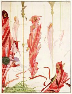 The Year's at the Spring, 1920 by Harry Clarke. Art Nouveau (Modern)…