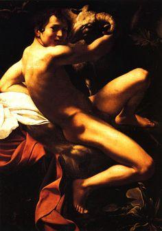 1600 Le Caravage SaintLe Caravage  Jean Baptiste, Huile sur Toile, 132x95 cm