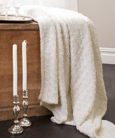 Another great find on #zulily! Ivory Rosina Throw #zulilyfinds