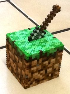 Minecraft Dirt Block Bank by BeadProShop on Etsy, $15.00