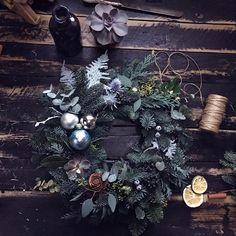 #christmaswreath #christmas #flowerspace #vscomoscow #новогоднийподарок