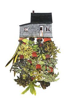 Threaded plant art print
