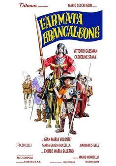 O Incrível Exército Brancaleone (L'Armata Brancaleone - 1966) - Dir: Mario Monicelli. Vittorio Gassman é Brancaleone da Norcia, que capitaneia um exército de derrotados e atrapalhados rumo a Aurocastro, na Puglia. Eles roubaram um pergaminho que garante a posse dessas terras supostamente ricas. Brancaleone é um Quixote das Cruzadas com seu fiel cavalo amarelo Aquilante. No caminho enfrentam bárbaros, sarracenos, bizantinos e até a peste negra. Uma comédia de erros não tão engraçada.