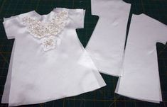 Preemie Angel Gown free pattern and tutorial : 7 Pine Design