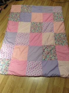 Purple and pink baby quilt