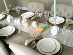 Great Easter tablescape.