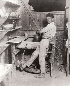 TBT to master potter Peter Anderson in his workshop at Shearwater Pottery. Mark your calendars for the Peter Anderson Arts and Crafts Festival held November 7-8, and extend your weekend to explore the variety of art galleries and studios sprinkled along the Mississippi Gulf Coat. 