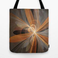 Fractal Shapes Of Fantasy Flowers Tote Bag by gabiw Art.