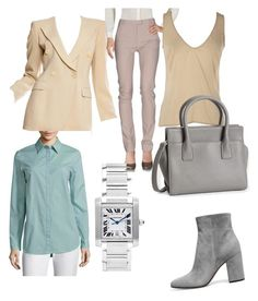 """""""1.1"""" by fireflowfor on Polyvore featuring Giorgio Armani, Maison Margiela, Chanel, Lafayette 148 New York, Aéropostale and Cartier"""