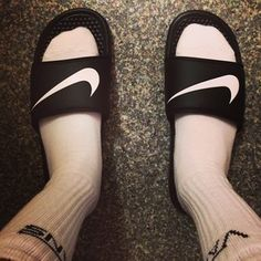 Socks with shower sandals.   32 Regrettable '90s Guys Fashion Trends