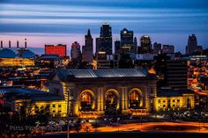 Union Station at Night in Kansas City, Fine Art Photography by Pitts Photography